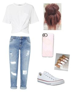 """Untitled #5"" by avril-05 ❤ liked on Polyvore featuring Casetify, Miss Selfridge and Converse"