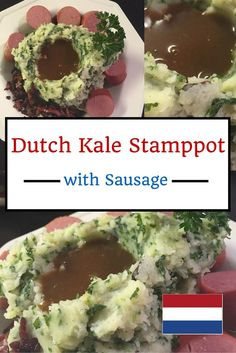 Dutch Kale Stamppot with Sausage If you are looking for authentic food recipes, consider this dish. If you like mashed potatoes, this hearty winter meal should really make you drool! Julia Childs, Amish Recipes, Cooking Recipes, Oven Recipes, Netherlands Food, Amsterdam Netherlands, Winter Food, Winter Meals, Winter Recipes