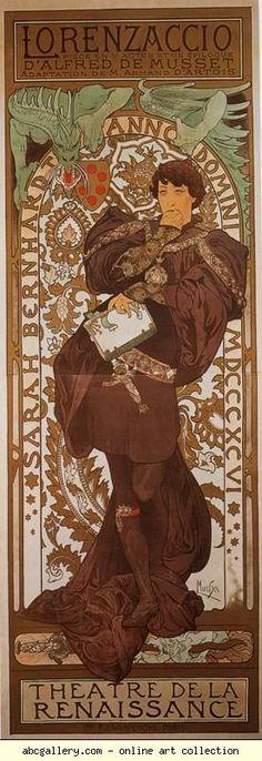 Alphonse Mucha. Lorenzaccio. Olga's Gallery.