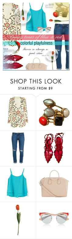 """Spring tones"" by milica1940 ❤ liked on Polyvore featuring Alice + Olivia, Paige Denim, MANGO, Givenchy and Prada"