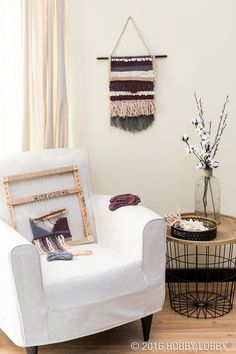 A loom kit provides everything you need to make simple, lovely woven art! Just add embellishments to make it as unique as the walls that surround you!