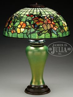 TIFFANY STUDIOS PANSY TABLE LAMP. - Price Estimate: $40000 - $60000