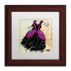 'Black n Purple Swirls' by Roderick Stevens Framed Graphic Art