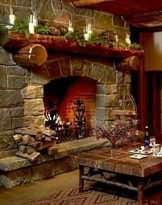 Love to have a fireplace like this.