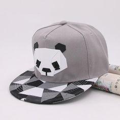 050e3ca28475c Cartoon Panda Baseball Cap Snapback Caps For Youth Men Women