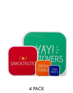 Order Happy Jackson Snacktastic Pack of 4 Snack Boxes online today at ASOS for fast delivery, multiple payment options and hassle-free returns (Ts&Cs apply). Get the latest trends with ASOS. Jackson, Presents For Her, Gifts For Her, The Make, How To Make, Snack Containers, Asos, Snack Box, Christmas Gifts For Women
