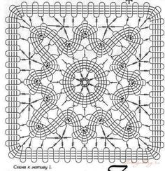 Filet Crochet, Crochet Doily Diagram, Crochet Mandala, Crochet Chart, Crochet Basics, Crochet Squares, Thread Crochet, Lace Knitting, Crochet Motif