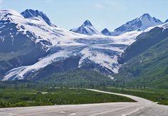 Worthington Glacier, near Valdez, Alaska, on the Richardson Higway - a spectacular drive.