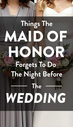 It's no secret that planning a wedding can be stressful, especially if you're the maid of honor. This coveted role comes with thousands of responsibilities and tasks that have to run smoothly, or else you may have a bridezilla to worry about. Wedding Planning Tips, Wedding Tips, Wedding Events, Wedding Planner, Dream Wedding, Wedding Hacks, Wedding Stuff, Wedding Ceremony, Wedding Checklists