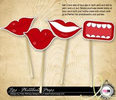 Holly's printable DIY mouths/lips for photobooths.