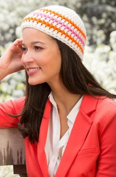 Stripes for Your Beanie in Red Heart Heads Up - LW4386 - Downloadable PDF