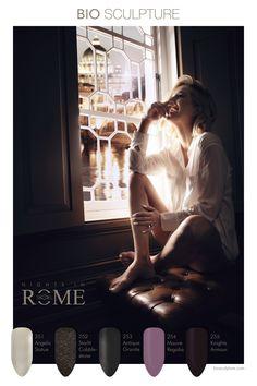 """De nieuwe collectie van Bio Sculpture Gel """"Nights in Rome"""" wordt gelanceerd op 18 september 2019. Rome, Bio Sculpture Gel, Pedicures, September, Statue, Nails, Finger Nails, Ongles, Pedicure"""
