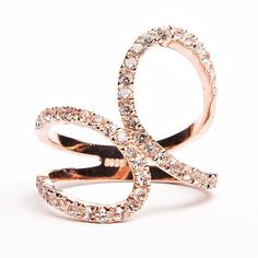Diamond Rings : Infinity Ring - Rose & White Gold - Buy Me Diamond Rose Gold Jewelry, Jewelry Box, Jewelry Rings, Jewelry Accessories, Jewelry Design, Jewlery, Gold Jewellery, Baby Jewelry, Temple Jewellery
