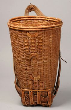 Africa | Basket from the Mongo people of DR Congo | Vegetal fibre