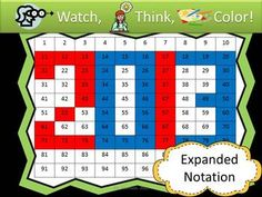 FREE 2013 Watch, Think, Color Expanded Notation Game! - The Primary Techie - TeachersPayTeachers.com