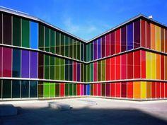 #rainbow #color Contemporary Art Museum of Castille and León, Spain