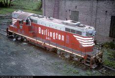 RailPictures.Net Photo: CBQ 242 Chicago Burlington & Quincy Railroad EMD GP7 at Rockford, Illinois by Marty Bernard