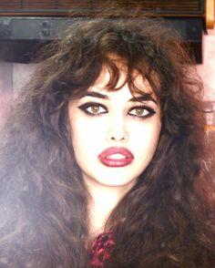 Love the 80's hair and make-up. Italian Vogue with Ellen Von Unwerth 1980s