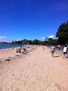 Sunny Mission Bay, Auckland, New Zealand