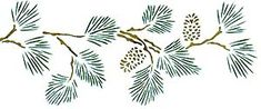 Check out the deal on Pine Branch Stencil with Pinecones at American Home Stencils