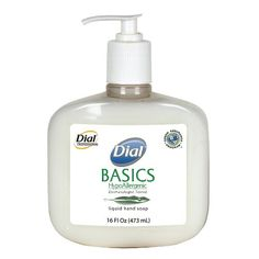 Dial 1747034 Basics Honeysuckle Floral White Pearl Hypoallergenic Liquid Hand Soap 16 oz Pump Bottle Pack of 12 ** Click image to review more details.