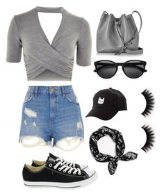 Untitled #10 by sydneygradisar on Polyvore featuring polyvore, fashion, style, Topshop, River Island, Converse, Lancaster, rag & bone, Charlotte Russe and clothing