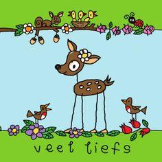 Bambi in de wei- Greetz Bambi, Deer, Illustration Art, Doodles, Happy Birthday, Snoopy, Comics, Hugs, Fictional Characters