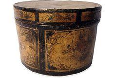 "Chinese Hat Box China 1900-1910 12""H x 17""D ($550.00) $179.00"