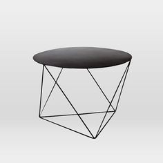 """24"""", so bigger, may be better. Love this, in black or white. Eric Trine Octahedron Side Table, Matte Black"""