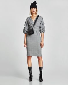 Image 1 of CHECKED SHIFT DRESS from Zara