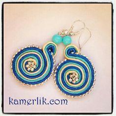 soutache Victoria, Beads, Sewing, Craft, Earrings, Handmade, Inspiration, Jewelry, Fashion