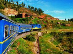 The train to Machu Picchu, Peru's top tourist destination.Machu Picchu is the most visited tourist site in South America. Machu Picchu, Inka Trail, Scenic Train Rides, Road Trip, Tourist Sites, Destination Voyage, Peru Travel, South America Travel, Paisajes