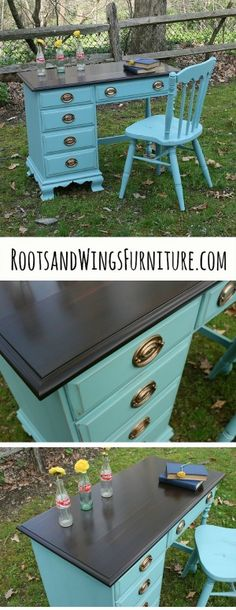 Provence and Java Desk — Roots & Wings Furniture LLC
