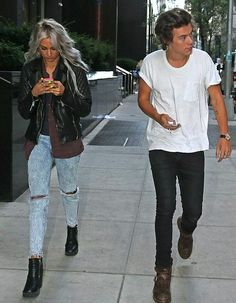 Lou Teasdale and Harry Styles.