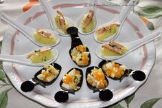 Appetizers Table, Canapes, Finger Foods, Potato Salad, Entrees, Catering, Sushi, Pasta, Snacks