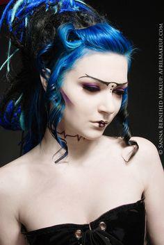 Blue & Black hair