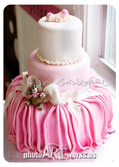 Beautiful Baby Shower Cake or a cake for a very special birthday girl