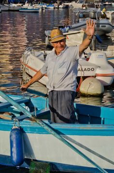 Procida, Italy fisherman after a day on the water.