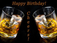 Happy Birthday Card Cheers Whiskey