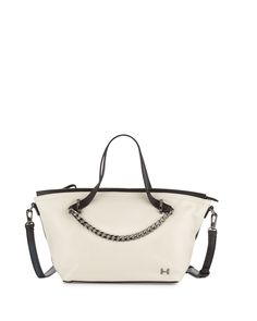 88b7f73cb5dc Halston Heritage Colorblock Leather Satchel Bag
