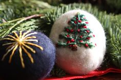 waldorf christmas crafts felted stones embroidered for the first week of advent