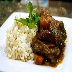when word goes out that I'm making Trinidadian Brown Stew Oxtail and Rice, everyone shows up for dinner! Trinidadian Brown Stew Oxtail Read Recipe by sadiyahabdallah Oxtail Recipes, Jamaican Recipes, Beef Recipes, Cooking Recipes, Jamaican Dishes, Curry Recipes, Jamaican Cuisine, Haitian Recipes, Healthy Grilling Recipes