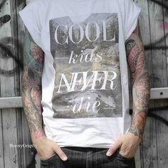 #shirt #men #lookbook Cool Kids Never Die Statement Shirt for Men