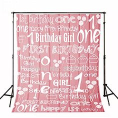 Kate Photography Backdrop for Baby Birthday Party Photo Background Cotton No Wrinkle Girl Backdrops for Picture 1st Birthday Photos, Girl First Birthday, Baby Birthday, 1st Birthday Parties, Cute Photography, Background For Photography, Photography Backdrops, Vinyl Backdrops, Kids Party Themes