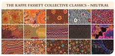 The Kaffe Fassett Collective - Fabric Bundle - Design Roll - Classics - Neutral