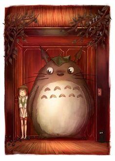 Ghibli Totoro in Spirited Away Fanart by Nadia Dibaj ~. All Studio Ghibli Movies, Studio Ghibli Art, Hayao Miyazaki, Studios, Anime Art, Manga Anime, Girls Anime, Film Studio, Howls Moving Castle