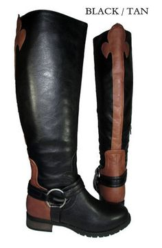 The Bojana Riding Boots in Black with Fleur de Lis www.gugonline.com