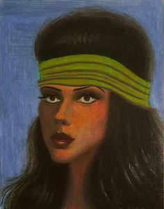 """alejandra"", oil on  wood, 11 x 81/2 in , ( in progress, and not done with the background yet ) #newcontemporary #originalart #popsurrealism #oilpainting  #artforsale #losangeles #LA #california #paultorres #paultorresart"