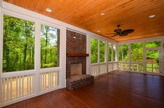 Screened Porch with fireplace!