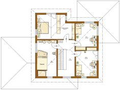 Kundenhaus Santorin Grundriss Obergeschoss